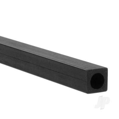 1m 6mm Carbon Fibre Square-Round Tube, 4.15mm Wall