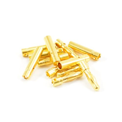 4.0Mm Gold Connectors (6 Pairs Male/Female) ET0607