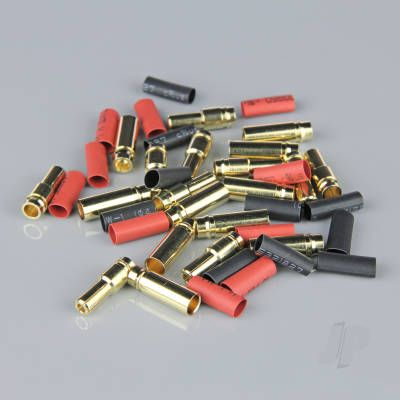 5.0mm Gold Connector Pairs including Heat Shrink (10pcs)