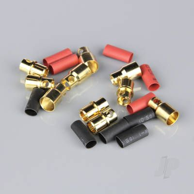 8.0mm Gold Connector Pairs including Heat Shrink (5pcs)