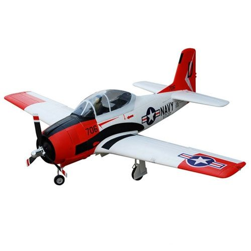 FMS 1400Mm T-28D V4 Superscale Artf W/O Tx/Rx/Batt Red/White FS0220