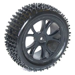 FTX Vantage Front Buggy Tyre Mounted On Wheels (Pr) - Black FTX6300B