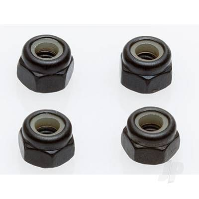 Helion Wheel Locknuts, M4, Black HLNA0537