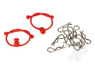 Radient Body Clips (10pcs) with Red Retainers (2pcs) RDNA0305