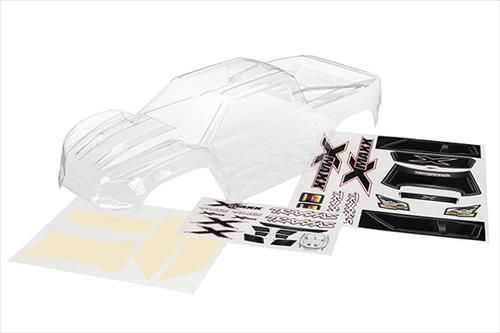 Traxxas Body, X-Maxx (clear,untrimmed,requires painting)/window mask TRX7711