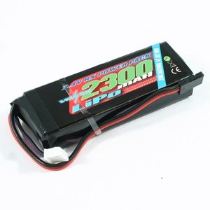 Voltz 2300Mah 2S 7.4V Rx Lipo Straight Battery Pack VZ0270