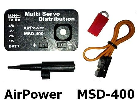 Airpower Multi Servo Distribution (For 4 Servos) Msd-400