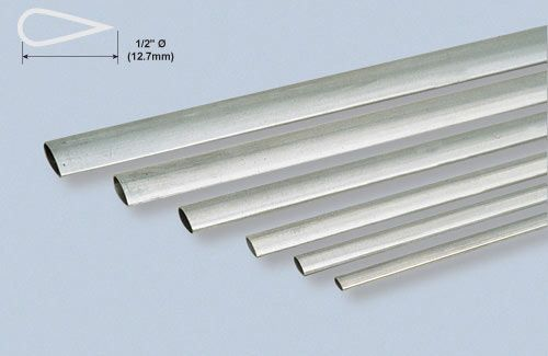 "Alu Stmline Tube 1/2x35""/12.7x889mm"