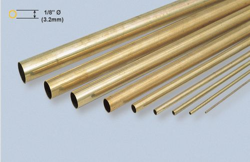 "Brass Tube - 1/8 x 36""/3.18x914mm"