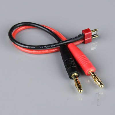Charge Lead, 4mm Bullet to Deans Male, 14AWG, 150mm (ESC End)