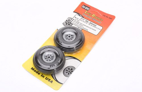 "Dubro 2-1/2"" (63.5mm) Wheels with Treaded Tyres (Pair)"