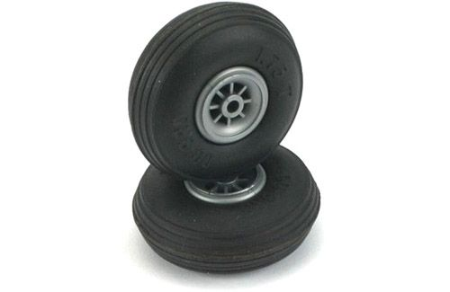 "Dubro 3"" (76.2mm) Wheels with Treaded Tyres (Pair)"