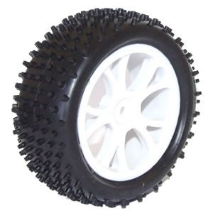 FTX Vantage Front Buggy Tyre Mounted On Wheels (Pr) - White FTX6300W