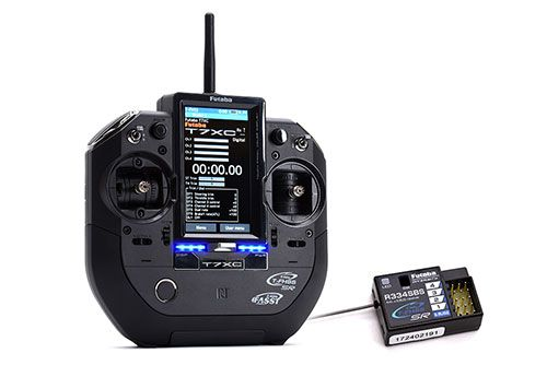 Futaba T7XC 7-Channel 2.4GHz Transmitter Combo including R334SBS Rx