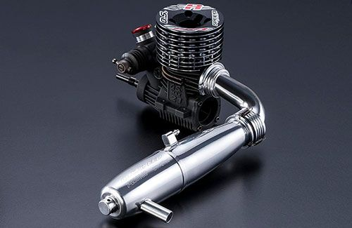 O.S. Speed R2103 & T-2080SC Tuned Pipe Combo - .21 On-Road Competition Engine