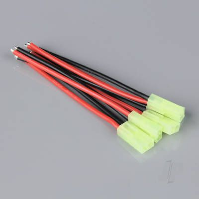Pigtail Connector, Mini Tamiya Female, 16AWG, 100mm (5pcs)