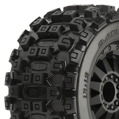 "Pro-Line Badlands Mx28 2.8"" All Terrain On Blk F11 Wheel Jato PL10125-14"