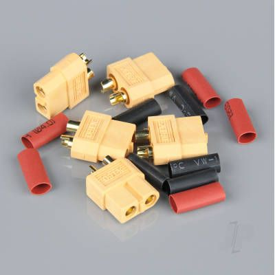 XT60 Female (Battery End) including Heat Shrink (5pcs)